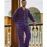 Mens Pyjamas Bordeaux Tartan Flannel