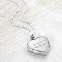 Solid Silver Heart Locket, Silver