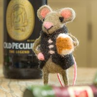 Mouse With Pint Of Beer