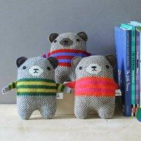 Knitted Lambswool Mini Bear