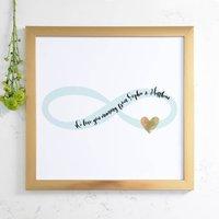Personalised Metallic Heart Infinity Framed Art