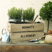 Personalised Grow Your Own Allotment Gardening Gift, Ivory/Lime Green/Lime