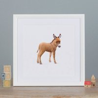 Illustrated Donkey Print