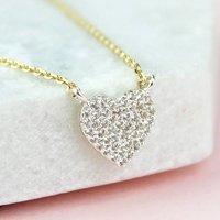 Mini Diamante Heart Necklace