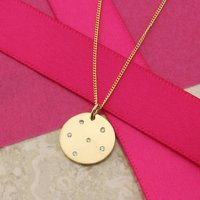 Cosmos 9ct Gold Pendant With Diamonds, Gold