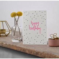 'Happy Birthday' Dots Letterpress Card
