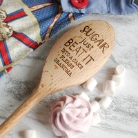 Personalised Sugar Just Beat It Baking Spoon