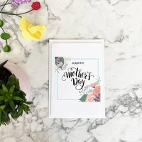 Mother's Day Flower Wreath Card