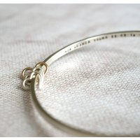 Personalised Mum Bangle With Hearts, Rose Gold/Rose/Gold