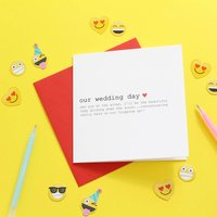 Wedding Day Card For Your Groom, Personalised Card