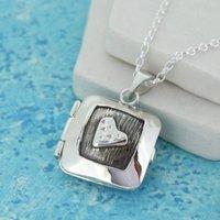 Personalised Silver Heart Locket, Silver