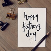 'Happy Father's Day' Script Letterpress Card
