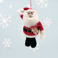 Personalised Felt Santa Christmas Tree Decoration