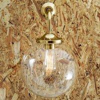 Bamako Globe Wall Light, Brass