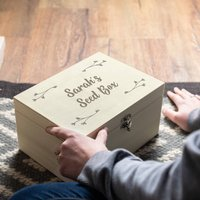 Personalised Wooden Seed Box Garden Gift