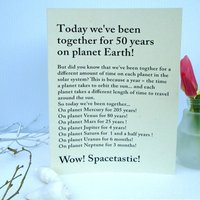 Personalised Anniversary Planets Card