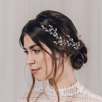 Swarovski Crystal And Pearl Wedding Hair Vine Cassie