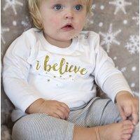 I Believe Glitter Baby Pyjamas