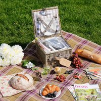 Personalised Country Style Wicker Picnic Basket