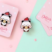 Panda Claus Christmas Enamel Pin