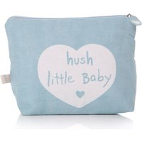 Hush Little Baby Cotton Washbag, Pink/Baby Blue/Blue