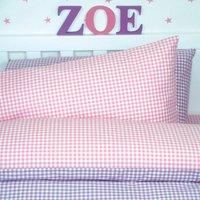 Gingham Bed Linen Set, Red/Blue/Pink