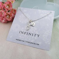 Infinity Silver Personalised Necklace, Silver
