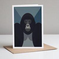 Gorilla Card With Kraft Envelope. Eco Friendly