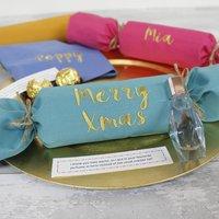 Reusable Christmas Cracker Personalised Name Napkins