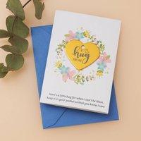 Personalised Wildflower Hug Token Card