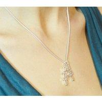 Mondrian Handmade Silver Necklace, Silver