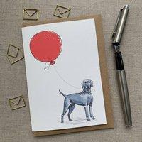 Personalised Weimaraner Birthday Card