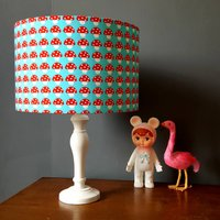 Handmade Toadstool Children's Lampshade In Aqua