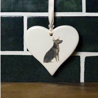 Alsation / German Shepherd Ceramic Heart