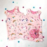 Handmade Unicorn Dress Twin Set