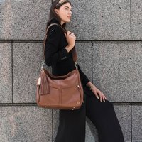 Lennox Tan Leather Handbag