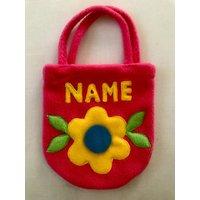 Toddlers Personalised Pink Handbag