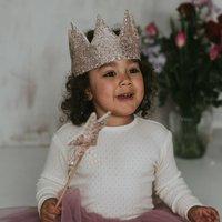 Rose Gold Sequin Crown