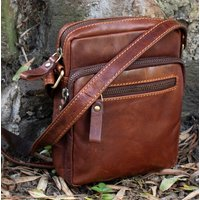 Small Leather Flight Crossbody Bag