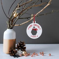 Personalised 'Merry Christmas' Penguin Bauble