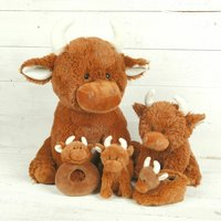 Highland Cow Baby Shower, Christening Set Personalised