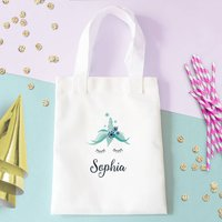 Personalised Frosty Unicorn Childrens Tote Bag