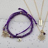 Gold Crown Chakra Jewellery Set, Gold