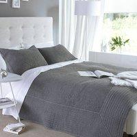 Charcoal Stonewash Bedspread
