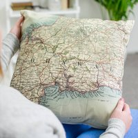 Personalised Vintage Map Cushion