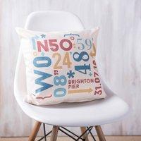 Personalised Coordinates Cushion
