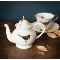The Bird Small Bone China Teapot