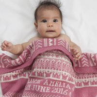 Personalised Baby Blanket In Cashmere