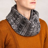 Grey Knitted Snood Inspired By Nature Unisex