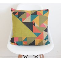 Abstract Triangles Cushion Cover